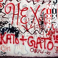 Graffiti on Nixon poster.  New York City 1973