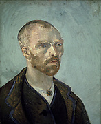 Self-Portrait ', 1888, dedicated to Paul Gaugin.   Vincent Van Gogh (1853-1890) Dutch Post-Impressionist artist.