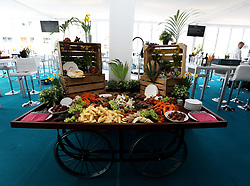 General view of hospitality during St Patrick's Thursday of the 2018 Cheltenham Festival at Cheltenham Racecourse. PRESS ASSOCIATION Photo. Picture date: Thursday March 15, 2018. See PA story RACING Cheltenham. Photo credit should read: Steven Paston/PA Wire. RESTRICTIONS: Editorial Use only, commercial use is subject to prior permission from The Jockey Club/Cheltenham Racecourse.