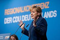 15 OCT 2010, BERLIN/GERMANY:<br /> Angela Merkel, CDU Bundesvorsitzende, beantwortet die Fragen der Teilnehmer, Regionalkonferenz der CDU fuer die Landesverbaende Berlin und Brandenburg, Palais am Funkturm<br /> IMAGE: 20101015-01-070<br /> KEYWORDS: Rede