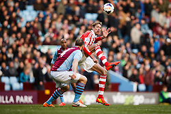 Stoke Forward Peter Crouch (ENG) in action - Photo mandatory by-line: Rogan Thomson/JMP - 07966 386802 - 23/03/2014 - SPORT - FOOTBALL - Villa Park, Birmingham - Aston Villa v Stoke City - Barclays Premier League.