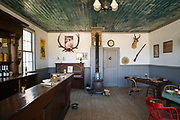 Interior view of the Carissa Saloon at South Pass City State Historic Site, Wyoming.