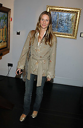 AMANDA CROSSLEY at the opening of an exhibition of paintings and watercolours by Raoul Dufy held at the Opera Gallery, 134 New Bond Street, London W1 on 6th February 2006.<br />