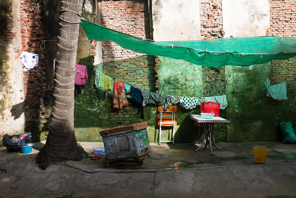 Courtyard of a house in Phnom Penh, Cambodia.<br />
