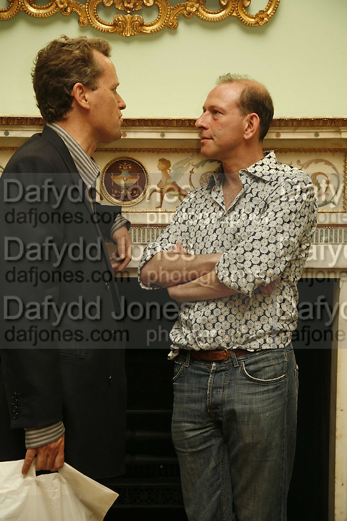teddy St. Aubyn and Simon Sebag-Montefiore, Book launch of 'A Much Married Man' by Nicholas Coleridge. English Speaking Union. London. 4 May 2006. ONE TIME USE ONLY - DO NOT ARCHIVE  © Copyright Photograph by Dafydd Jones 66 Stockwell Park Rd. London SW9 0DA Tel 020 7733 0108 www.dafjones.com
