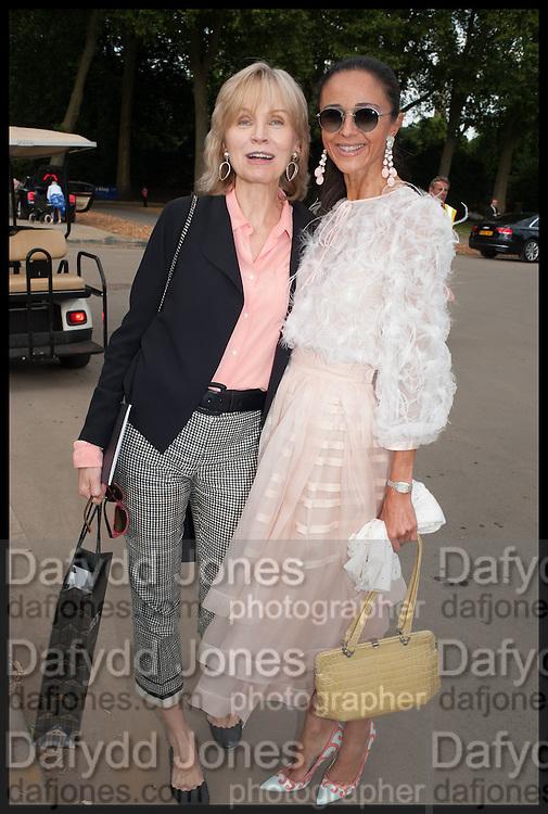 CORNELIA VON RITTBERG; LUNA DE CASANOVA, Masterpiece London 2014 Preview. The Royal Hospital, Chelsea. London. 25 June 2014.