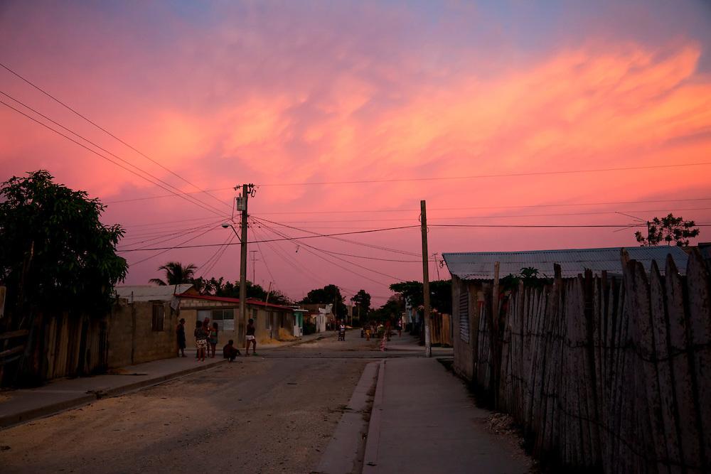 Sunset in Niquero, Cuba.
