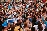 World Cup Quarter Final seen near Eiffel Tower, german fans<br />  Argentina vs. Germany<br /> <br /> <br /> Photograph by Owen Franken