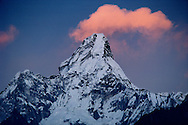 Sunset over Ama Dablam, Solu Khumbu, Nepal