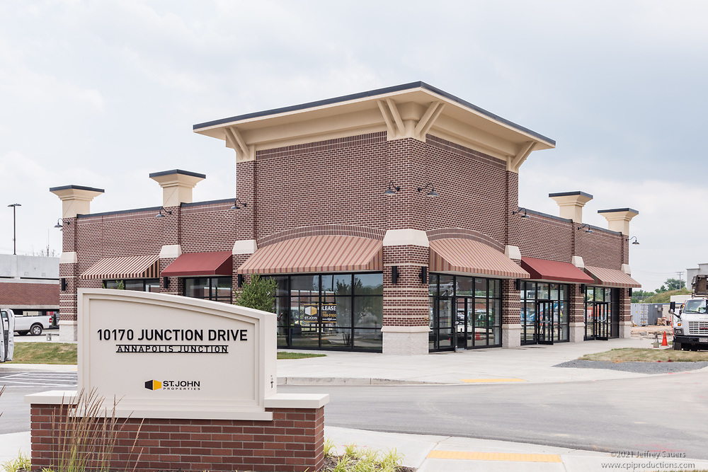 Exterior photo of Retail at Annapolis Junction in Maryland by Jeffrey Sauers of Commercial Photographics, Architectural Photo Artistry in Washington DC, Virginia to Florida and PA to New England