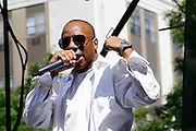 Johnny Dangerous performs during the 10th Annual Liberty State Park Music Festival in Newark, New Jersey on July 25, 2015.