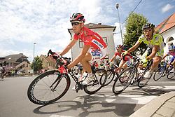 Didac Ortega  (ESP) of Acqua Sapone-Caffe Mocambo after start in Sentjernej of the 4th stage of Tour de Slovenie 2009 from Sentjernej to Novo mesto, 153 km, on June 21 2009, Slovenia. (Photo by Vid Ponikvar / Sportida)