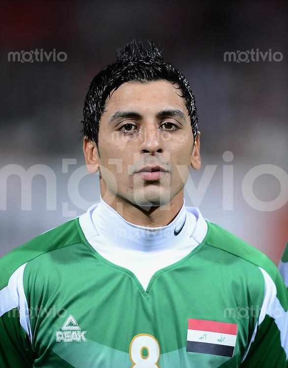 Fussball International Gulf Cup 2013 in Bahrain    Halbfinale     15.01.2013 Irak - Bahrain         Saif Salman Al Mohammmedawi (Irak)