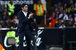 February 28, 2019 - Valencia, Spain - Head coach of Valencia CF Marcelino Garcia Toral. During Spanish King La Copa match between  Valencia cf vs Real Betis Balompie Second leg  at Mestalla Stadium on February 28, 2019. (Photo by Jose Miguel Fernandez/NurPhoto) (Credit Image: © Jose Miguel Fernandez/NurPhoto via ZUMA Press)