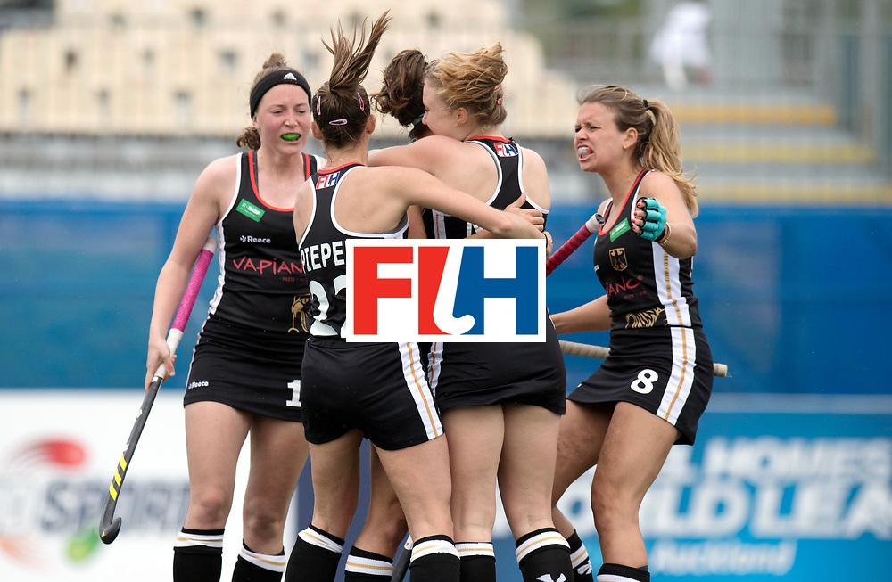 AUCKLAND - Sentinel Hockey World League final women<br /> Match id 10293<br /> 03 England v Germany <br /> Foto:  0-1 celebration Germany.<br /> WORLDSPORTPICS COPYRIGHT FRANK UIJLENBROEK
