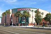 The Honda Center in Anaheim on Douglass Road