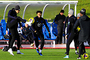 England defender Tyrone Mings and team mates during the England football team training session at St George's Park National Football Centre, Burton-Upon-Trent, United Kingdom on 13 November 2019.