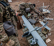 The drone team rely on a multitude of spare parts from used equipements as the Ukrainian army don,t supply them with any new parts to repair the drone.