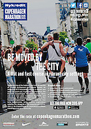 A poster to promote the 2015 Copenhagen Marathon