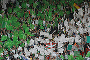 Celtic's support during the League Cup final between Rangers and Celtic at Hampden Park -<br /> David Young