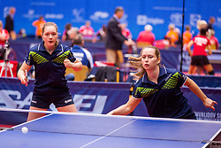 DENMARK (WALLOE Sophie Amanda and NIELSEN Thea Amalie) during day 4 of 15th EPINT tournament - European Table Tennis Championships for the Disabled 2017, at Arena Tri Lilije, Lasko, Slovenia, on October 1, 2017. Photo by Ziga Zupan / Sportida
