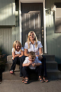 "Melissa Moore, author of ""Shattered Silence: The Untold Story of a Serial Killer's Daughter"", with children Aspen 8, Jake 5, and husband Sam.   Melissa Moore is the daughter of Keith Hunter Jesperson, the so-called ""Happy-Face Killer""."