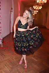 Olivia Cox at the Floral Ball in aid of Sheba Medical Center hosted by Laura Pradelska and Zoe Hardman and held at One Marylebone, 1 Marylebone Road, London England. 14 March 2017.