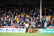 28th April 2018, Fir Park, Motherwell, Scotland; Scottish Premier League football, Motherwell versus Dundee; Motherwell fans at the end