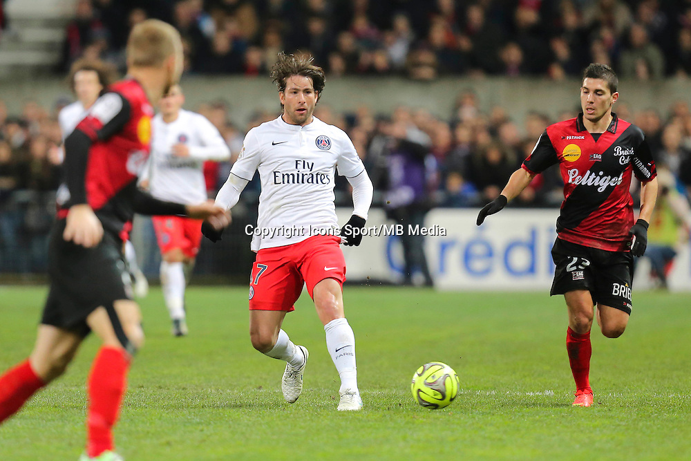 MAXWELL - 14.12.2014 - Guingamp / Paris Saint Germain - 18eme journee de Ligue 1<br />