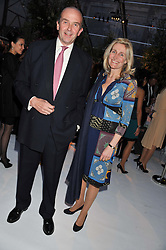 MR & MRS NICK WENTWORTH-STANLEY at a dinner hosted by Cartier following the following the opening of the Chelsea Flower Show 2012 held at Battersea Power Station, London on 21st May 2012.