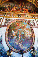Palace of Versailles.  Details of art on ceiling.
