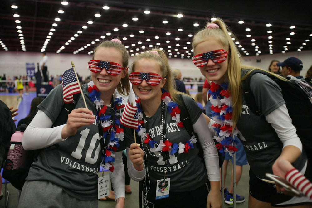 GJNC - July 2018 - Detroit, MI - Ava Mason - Lauren Parker - Anna Shade - from Seattle; celebrate the 4th of July - Photo by Wally Nell/Volleyball USA