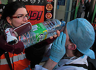 A peaceful UKUncut protest at Boots on Oxford Street against their tax avoidance schemes was marred by police using pepper spray on the protestors London, UK, 30/01/2011