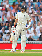 Joe Root of England batting during day 3 of the 5th test match of the International Test Match 2018 match between England and India at the Oval, London, United Kingdom on 9 September 2018.