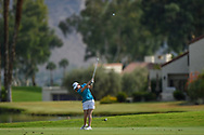 Leona Maguire (IRL) hits her approach shot on 18 during round 2 of the 2020 ANA Inspiration, Mission Hills C.C., Rancho Mirage, California, USA. 9/11/2020.<br /> Picture: Golffile | Ken Murray<br /> <br /> All photo usage must carry mandatory copyright credit (© Golffile | Ken Murray)