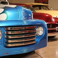 A 1948 Ford F1 Custom puck up that features a supercharged 383 cubic inch engine