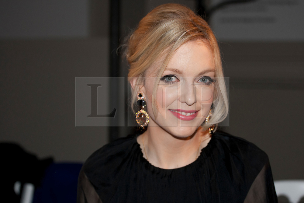 © licensed to London News Pictures. London, UK 02/02/12. Lauren Laverne attends to London College of Fashion (LCF) catwalk at V&A Museum in London. Home Secretary Theresa May and celebrities are amongst the guests. Photo credit: Tolga Akmen/LNP
