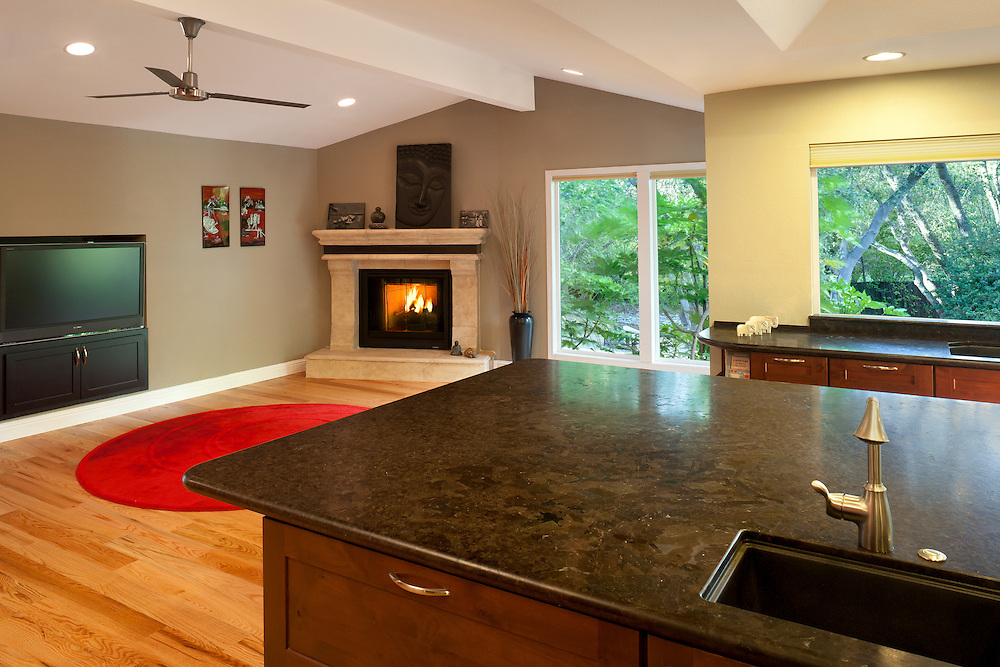 Kitchen and Family Room Remodel completed by Granite Bay Craftsman.