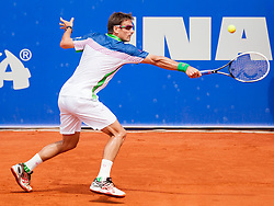 Tommy Robredo of Espana during a tennis match against the Marin Cilic of Croatia in semi-final of singles at 25th Vegeta Croatia Open Umag, on July 27, 2014, in Stella Maris, Umag, Croatia. Photo by Urban Urbanc / Sportida