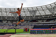 Henry Frayne of Australia in the Men's Long Jump during the Muller Anniversary Games, Day Two, at the London Stadium, London, England on 22 July 2018. Picture by Martin Cole.