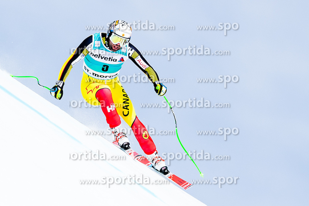 15.03.2016, Engiadina, St. Moritz, SUI, FIS Weltcup Ski Alpin, St. Moritz, Abfahrt, Herren, 1. Training, im Bild Manuel Osborne-Paradis (CAN) // competes in his 1st training run for the men's Downhill of St. Moritz Ski Alpine World Cup finals at the Engiadina in St. Moritz, Switzerland on 2016/03/15. EXPA Pictures &copy; 2016, PhotoCredit: EXPA/ Freshfocus/ Manuel Lopez<br /> <br /> *****ATTENTION - for AUT, SLO, CRO, SRB, BIH, MAZ only*****