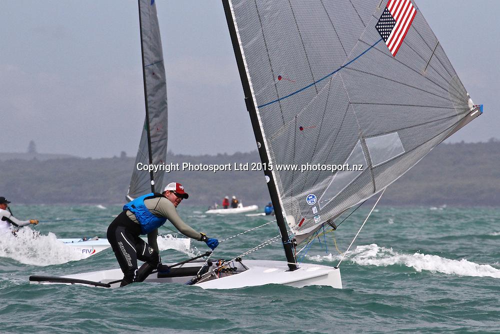 Race 8 Finn Gold Cup Takapuna - Zach Railey (USA)