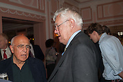 EDWARD MIRZOEFF; RICHARD INGRAMS, The Oldie - 20th anniversary party. Simpson's-in-the-Strand, 100 Strand, London, WC2. 19 July 2012