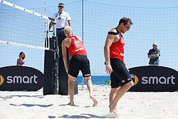 20140605 ITA: EK Beachvolleybal, Cagliari<br /> Michiel van Dorsten, Daan Spijkers verliezen ook hun 3de wedstrijd en liggen uit het toernooi<br /> ©2014-FotoHoogendoorn.nl / Pim Waslander