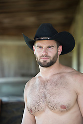 shirtless muscular cowboy