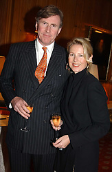 BERTIE & SUSANNA WAY at a private view of jewellery designed and made by Luis Miguel Howard held at 30 Pavillion Road, London on 27th October 2004.<br /><br />NON EXCLUSIVE - WORLD RIGHTS