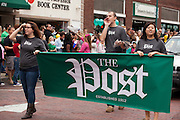 The Post at Ohio University Homecoming Parade on Court Street on October 12, 2013.