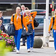 NLD/Scheveningen/20160713 - Perspresentatie sporters voor de Olympische Spelen 2016 in Rio de Janeiro, oa Celine van Regner