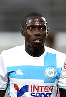 Alphousseyni Sane of Marseille during the pre season friendly match between Nimes and Olympique de Marseille on July 15, 2016 in Nimes, France. (Photo by Alexandre Dimou/Icon Sport)