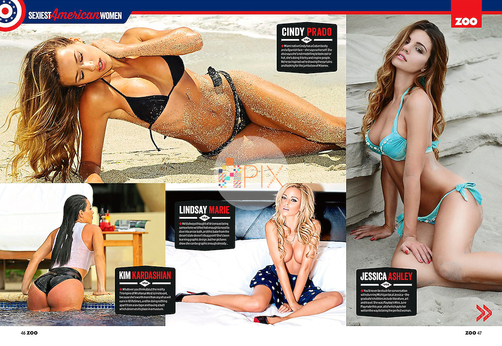 Zoo Weekly magazine in Australia names the 15 Sexiest American Women on the planet!  Among them are Cindy Prado (top left), Lindsay Marie (bottom, middle) and Jessica Ashley (far right).  <br />